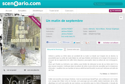 Un matin de septembre - Résumé et chronique (Sceneario.com)