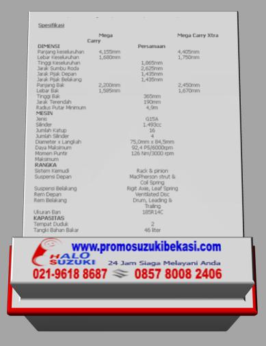 Spesifikasi Suzuki Mega Carry Box dan ACPS 2014
