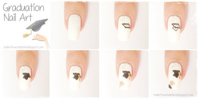 Graduation Cap Nail Art