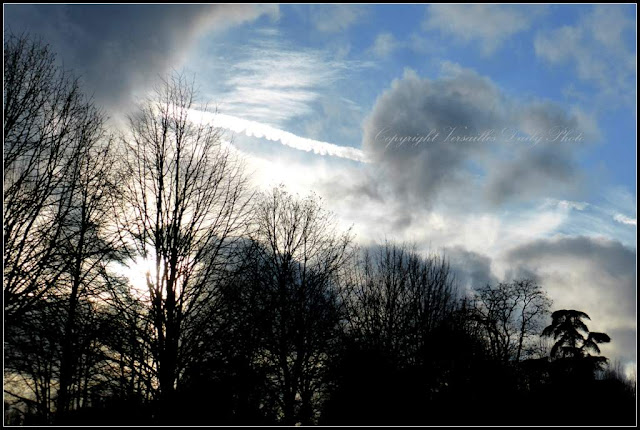 Ciel d'hiver Petit Trianon Versailles winter sky