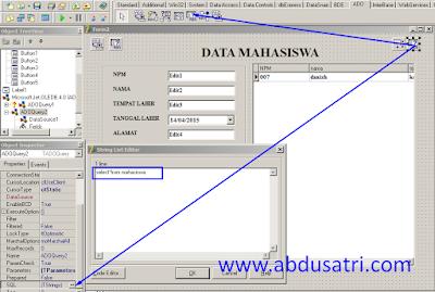 cara menambahkan datagrid di delphi