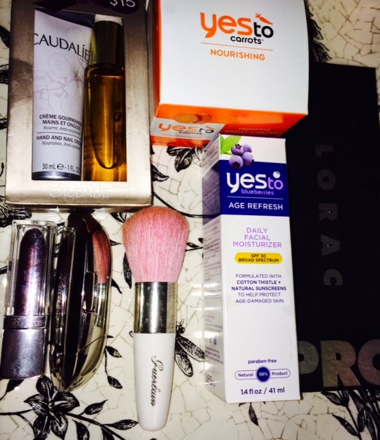 say yes to carrots say yest to blueberries guerlain meteorites brush