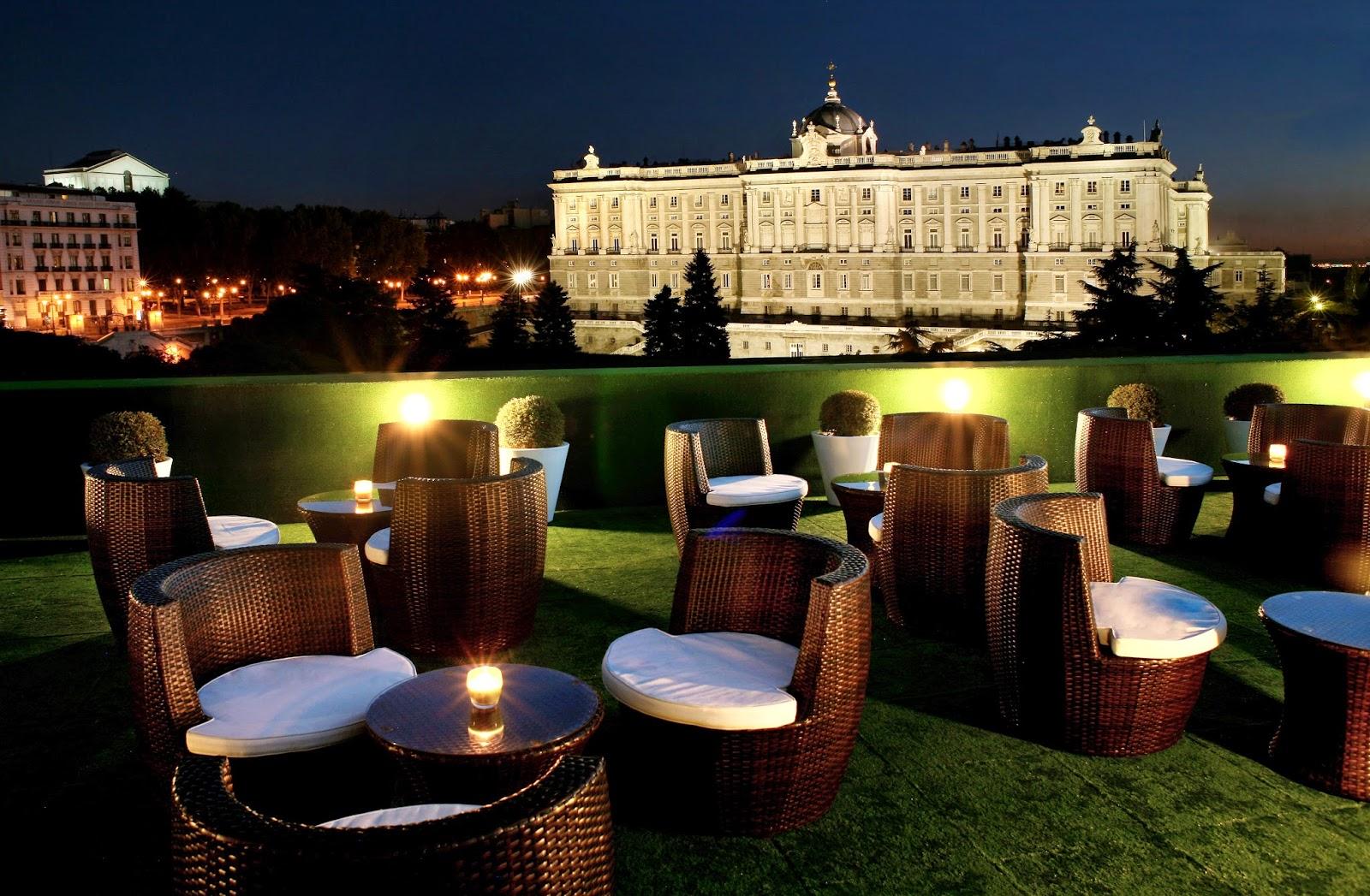 Azoteas y terrazas de hotel con vistas maravillosas de madrid for Hotel jardines sabatini