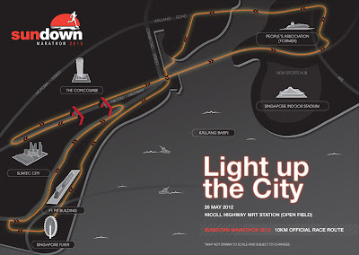 Sundown Marathon 2012 10KM Route Map