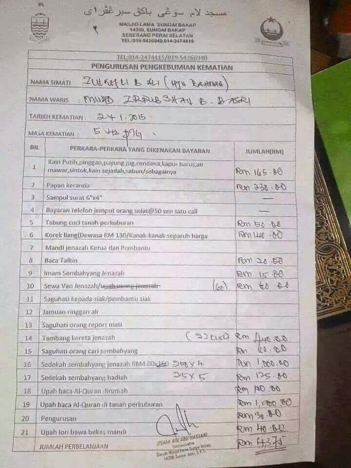 KALAU TIADA RM 4 735 JANGAN PERNAH TERFIKIR UNTUK MATI GAMBAR