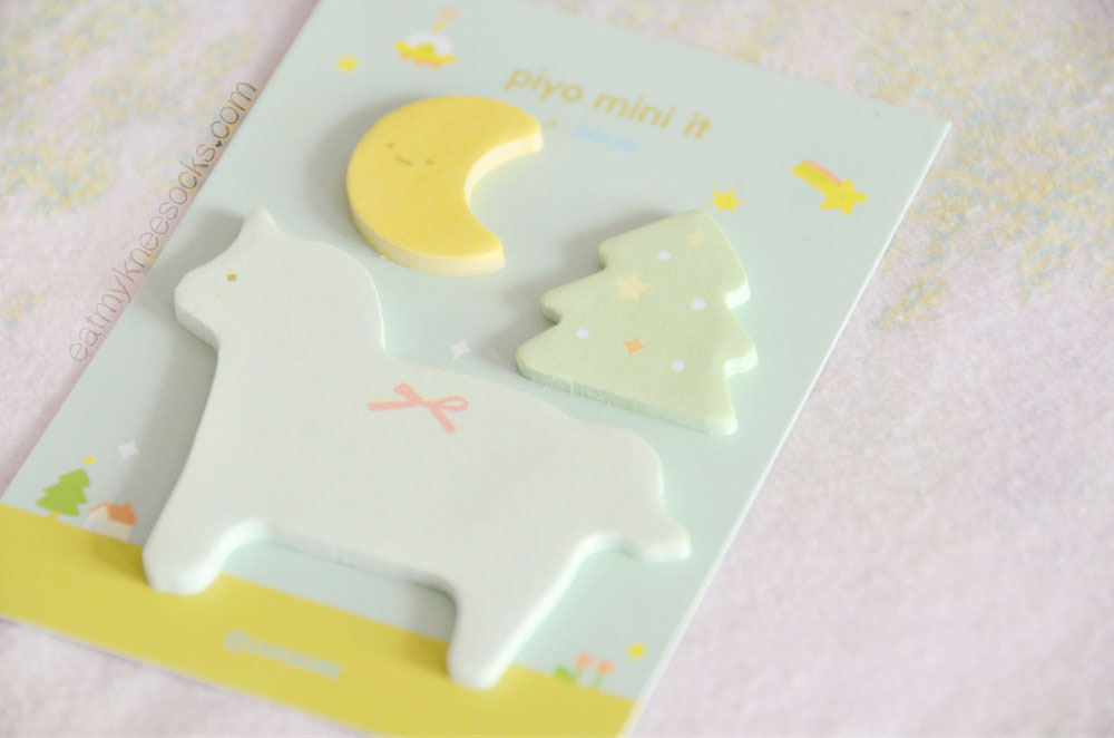 This adorable set of animal-shaped post-it notes (the Piyo mini it) is just one of the many things in the monthly Kawaii Box!