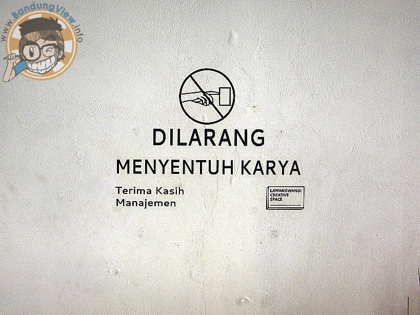 Dilarang pegang-pegang sembarangan