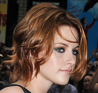 Kristen Stewart new red chin length hairstyle Kristen Stewart Red Wavy Hairstyles