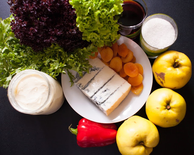 продукты для айвы, фаршированной перцем и горгонзолой
