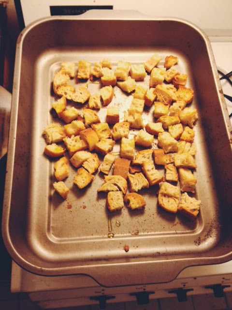 french bread croutons