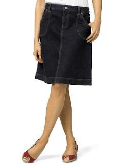 Denim A-line Skirt Fashion