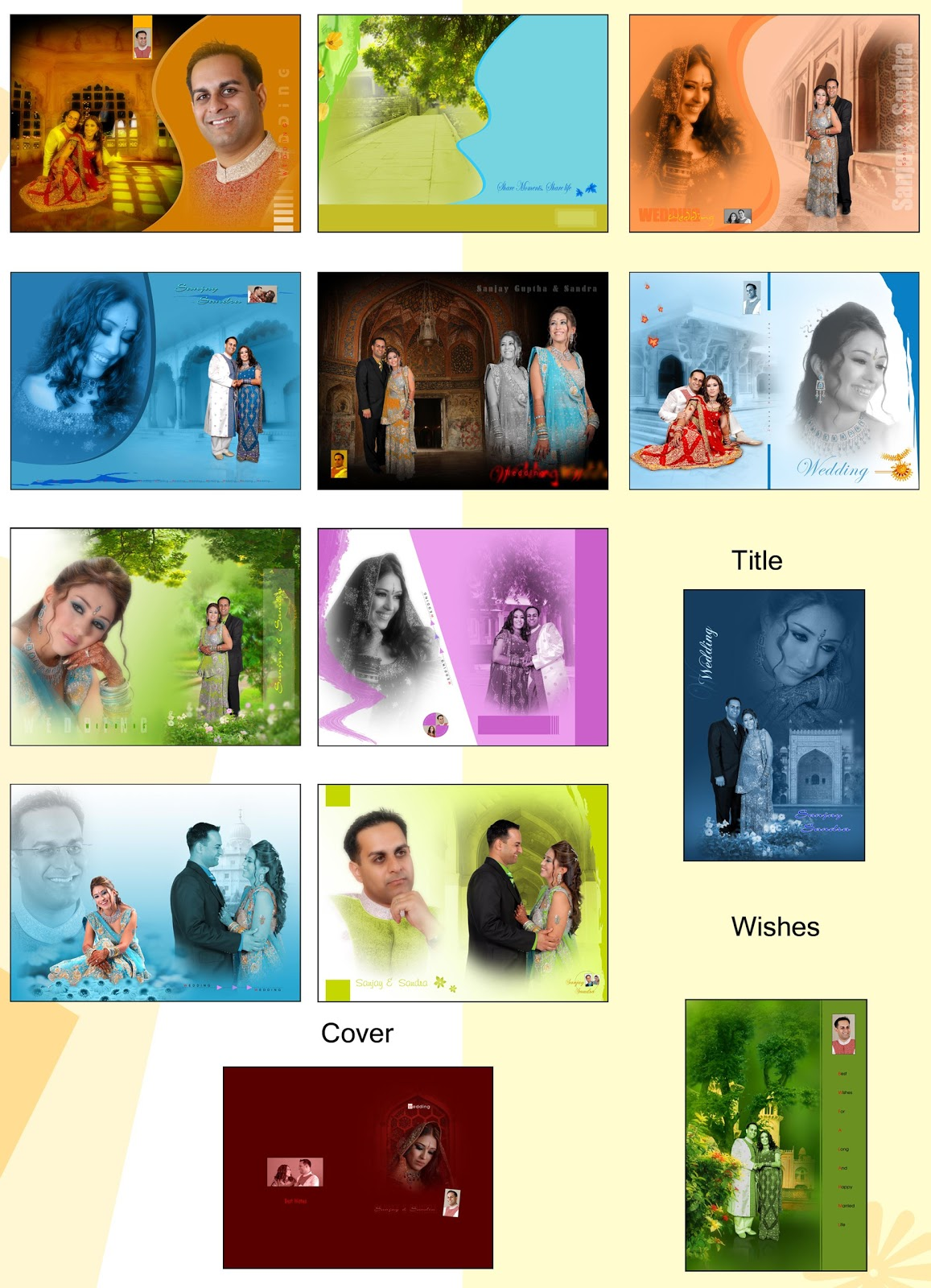 indian wedding album templates karizma album designs