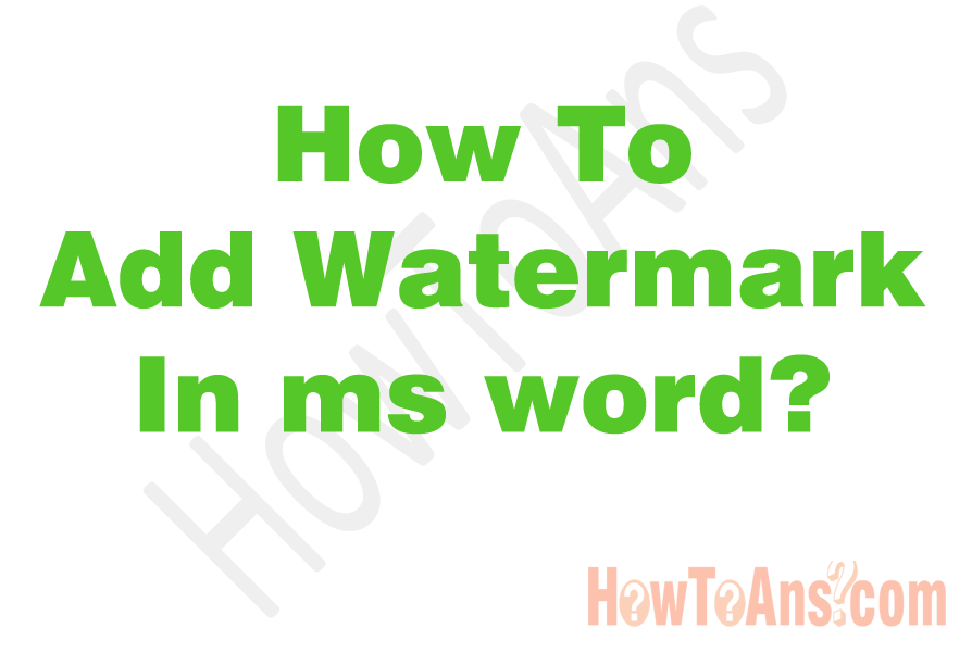 How-to-add-watermark-in-ms-word