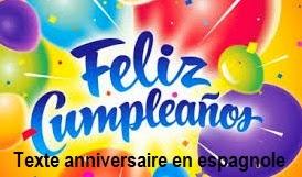 Carte Joyeux Anniversaire En Espagnol Nanaryuliaortega News