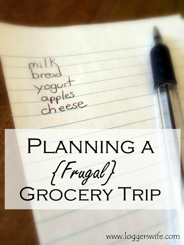 Planning a Frugal Grocery Trip