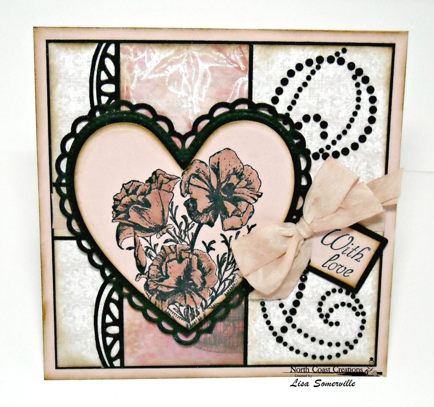 Stamps - North Coast Creations Floral Sentiments 3, ODBD Heart and Soul Paper Collection, ODBD Beautiful Borders Dies, ODBD Ornate Hearts Die, ODBD Recipe Card and Tags Dies