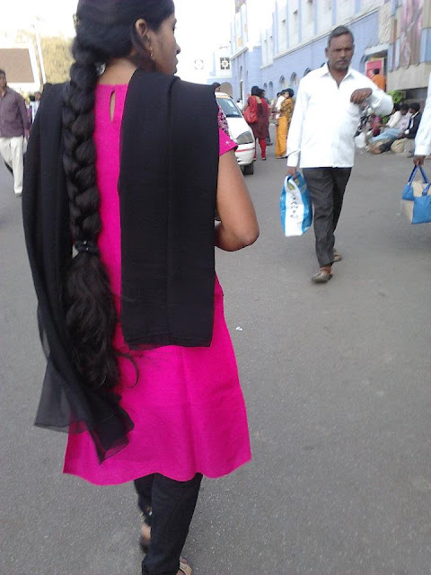 Hindi girl with long hair braid