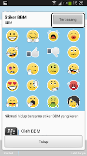 screenshot sticker BBM