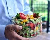 Seven-Layer Strawberry Salad with Homemade Poppy Seed Dressing (A Veggie Venture)