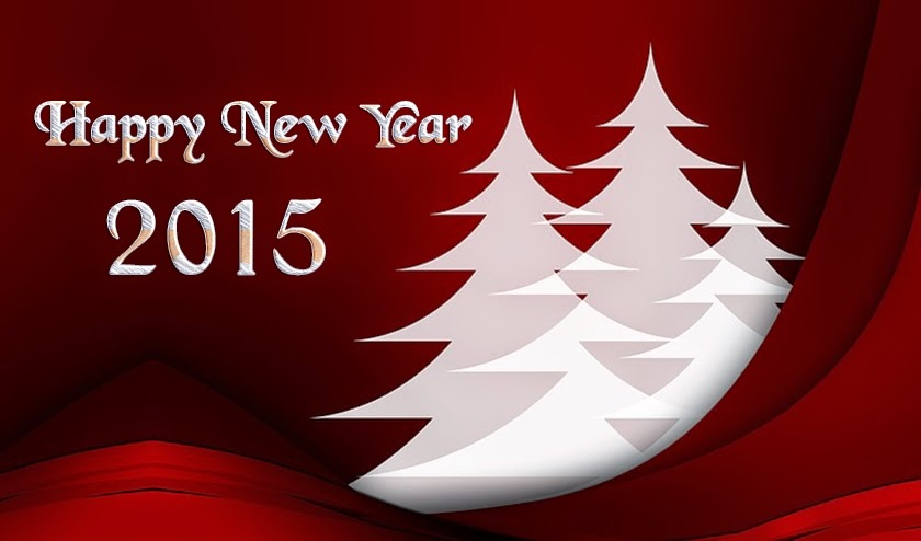Christmas Tree Happy New Year Greeting Cards Images 2015