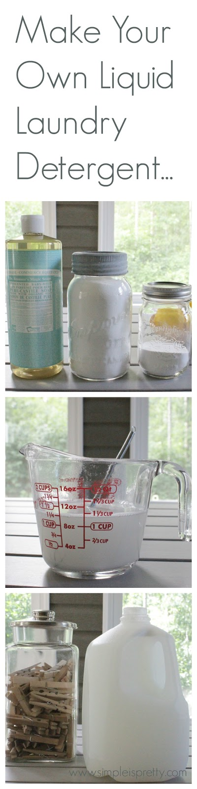 Make Your Own Liquid Laundry Detergent - www.simpleispretty.com
