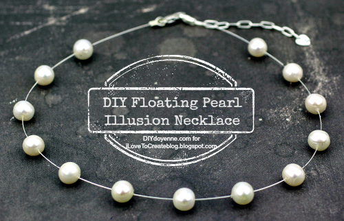 iLoveToCreate Blog: DIY Floating Pearl Illusion Necklace