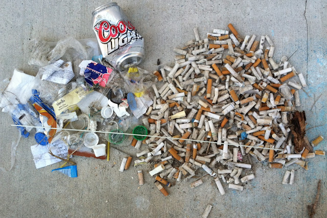 Cigarette Butts and other Beach Litter