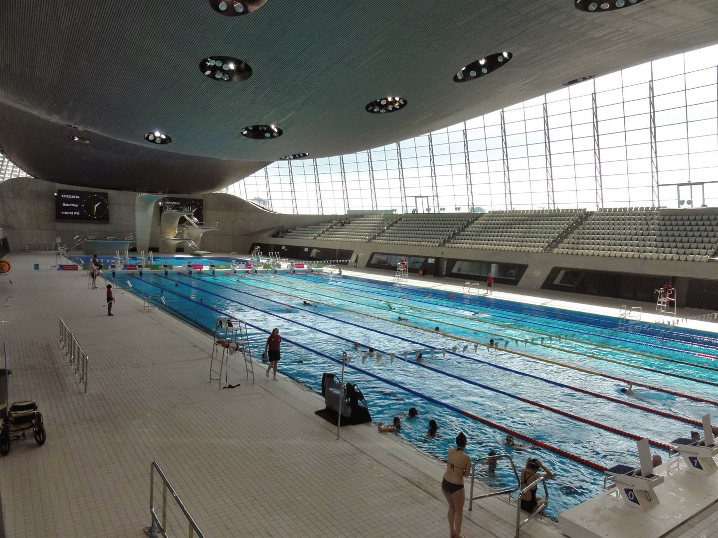the swim goes well and its certainly an impressive pool although the floats on the ropes dividing the lanes seem to be made of concrete and several times - Olympic Swimming Pool 2014