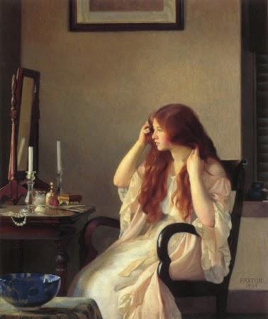 fata-pieptanandu-si-parul-w-m-paxton-1909
