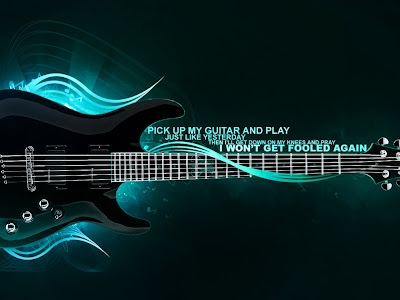 Blue Music Guitar