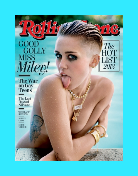 Miley Cyrus by Theo Wenner for Rolling Stone October 2013