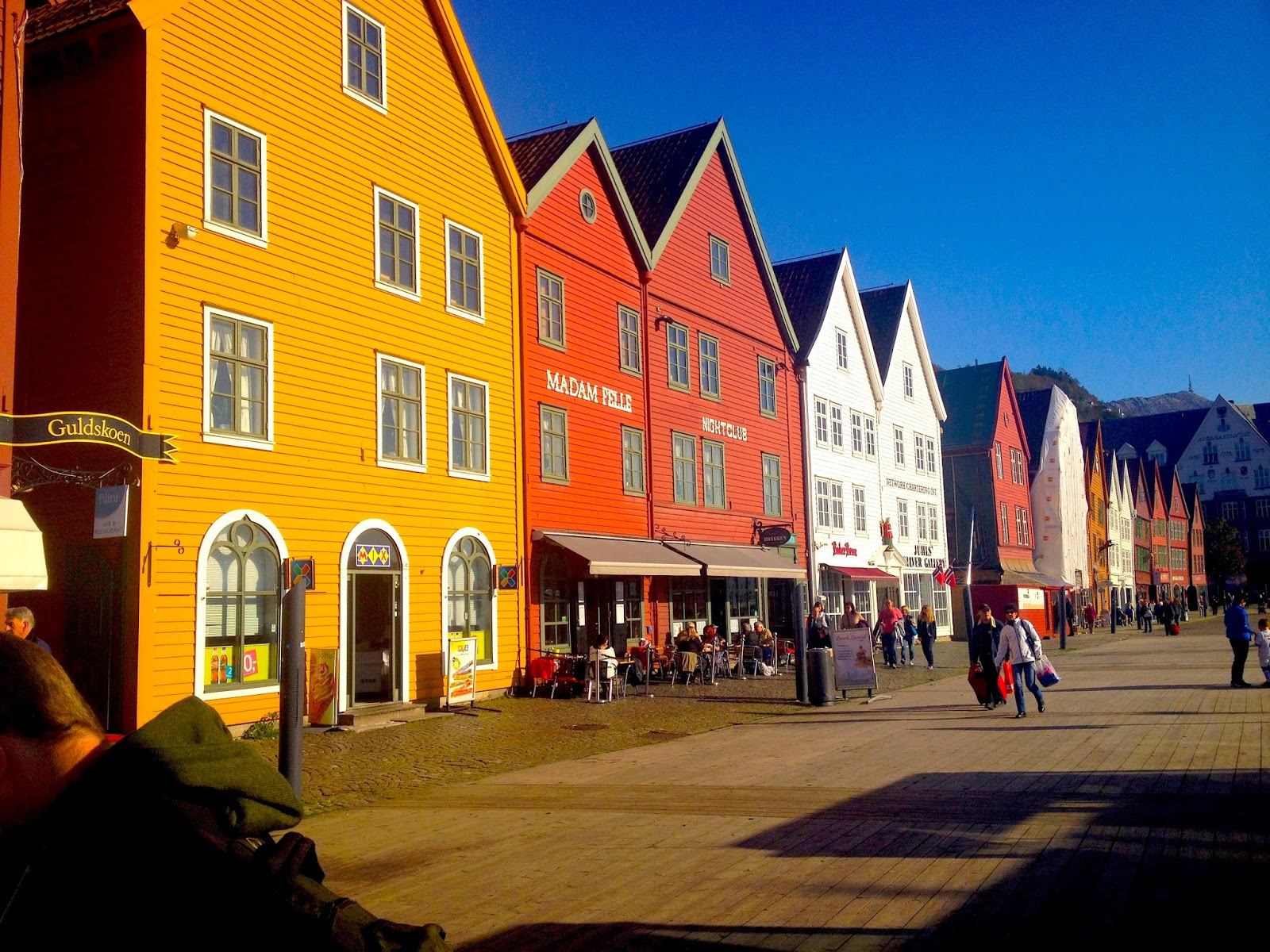 wooden builds of Bryggen