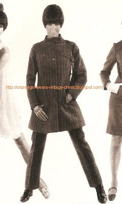 mod suit pants jacket 1960 60s mod haircut hair style Minnie Boutique - 22 rue de Brest à Lyon en 1967