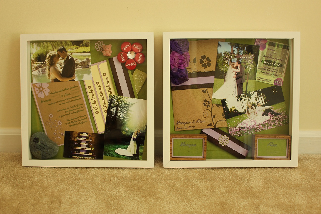 Shadow Boxes A Little Snapshot Of Our Wedding