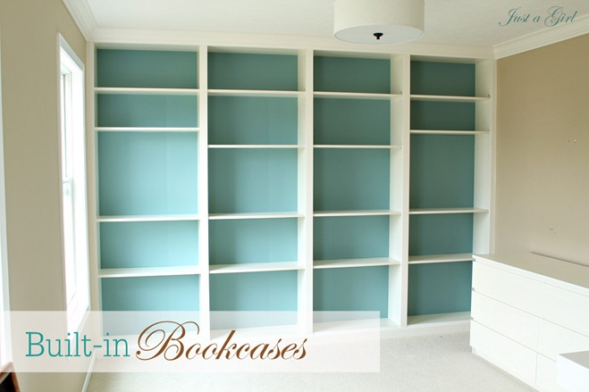 House and home stead billy built in meet besta built in for Ikea blue billy bookcase