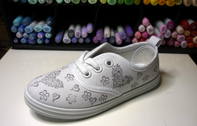 Childs+shoe+ +stamped+2+by+kasey+%257e+in+oz