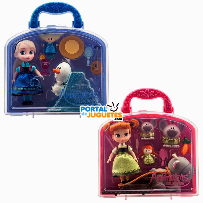 minimunecas elsa anna frozen coleccion disney animators cajas