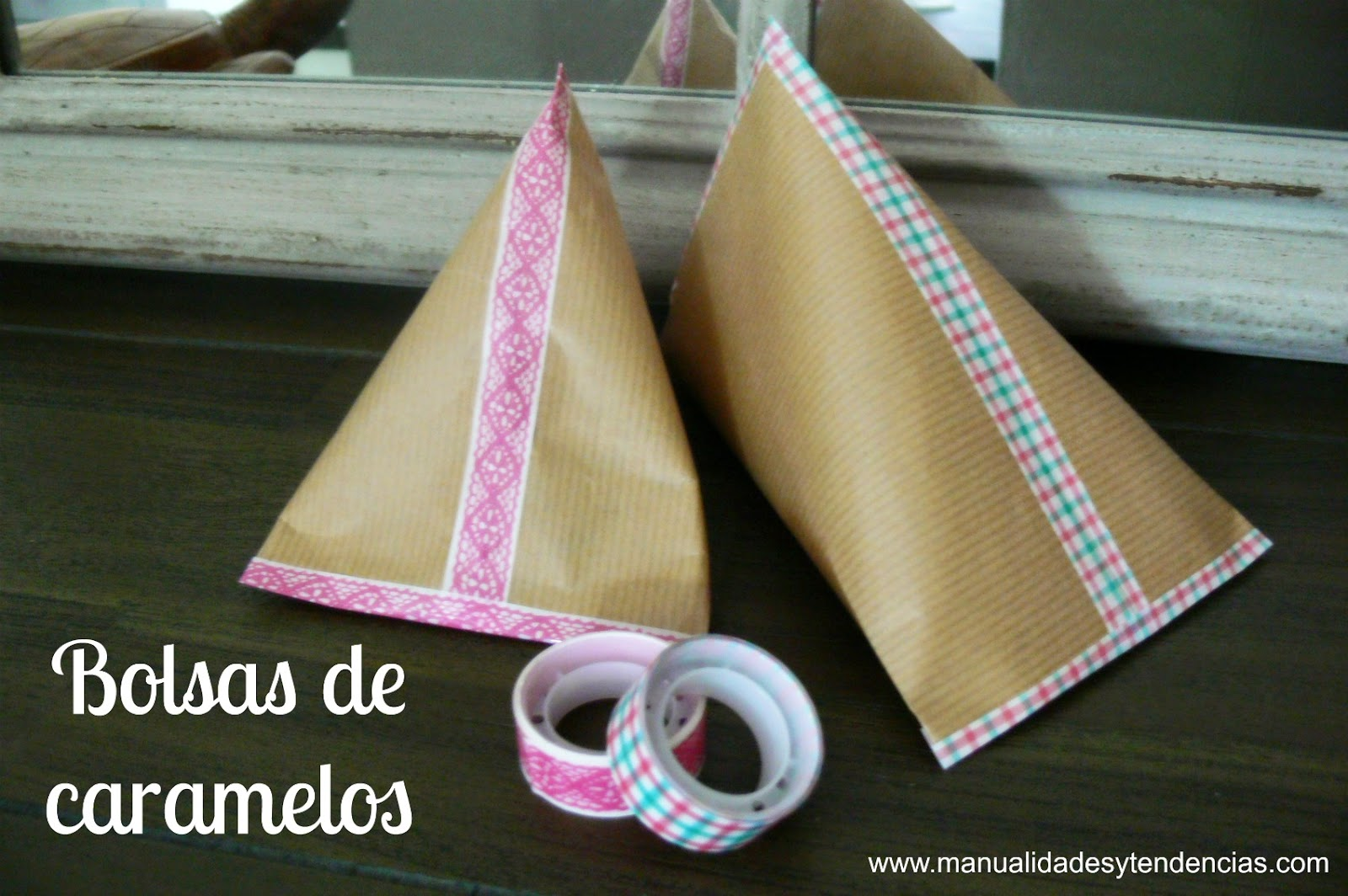 Manualidades y tendencias bolsas de caramelos de papel kraft candy bag - Manualidades con papel craft ...