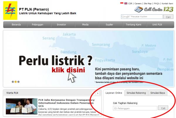 Cara Cek Tagihan Listrik PLN Secara Online
