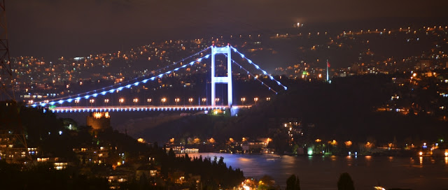 Bosphorus Bridge by night