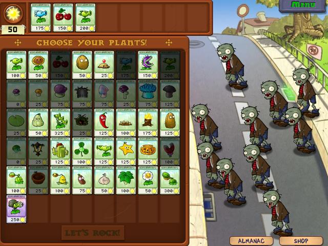 لعبة النباتات ضد الزومبى