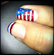 Oh, and I almost forgothere is a photo of my July 4th Nails.