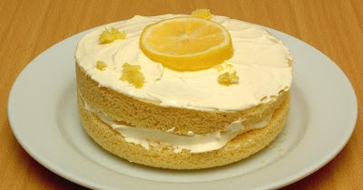 Diet Lemon Sponge Cake
