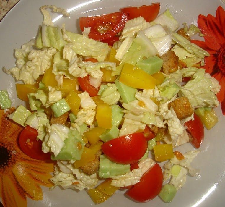 Салат с сыром Васаби