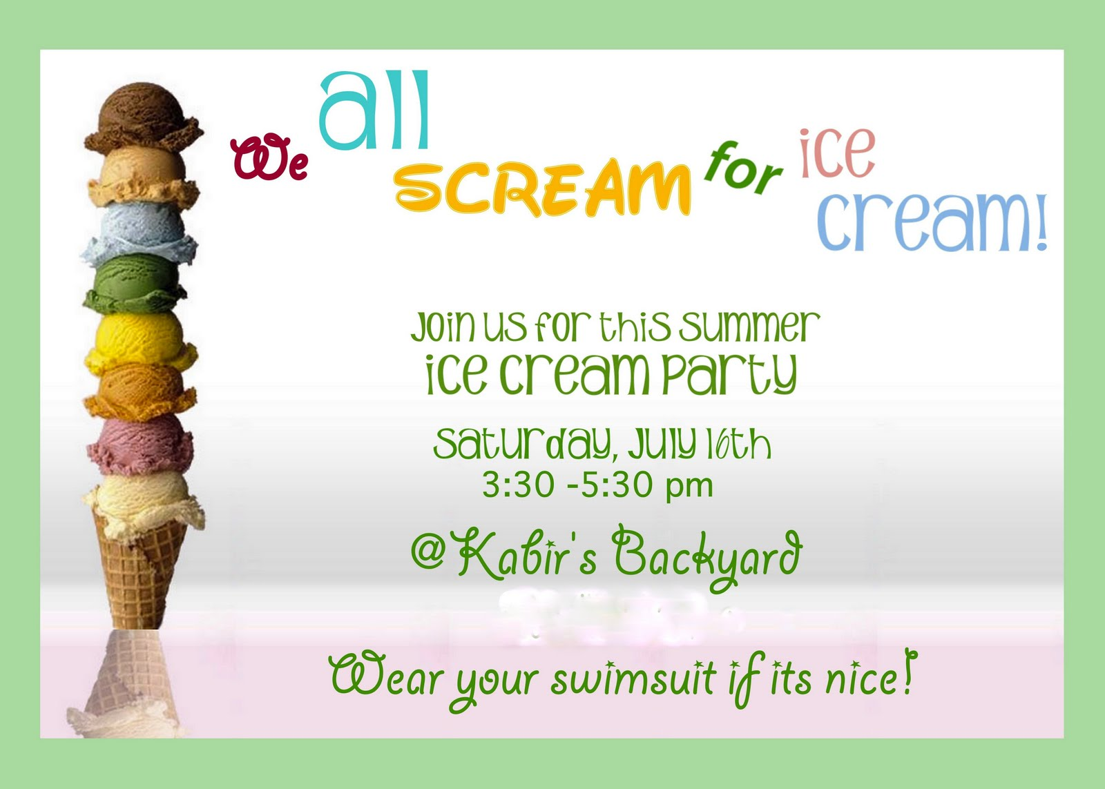 TurtleCraftyGirl Ice Cream Party – Ice Cream Party Invites