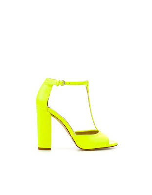 zara lemon high heel sandal