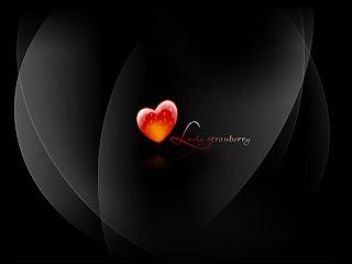 Lovely Strawberry Love Wallpaper