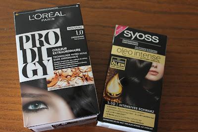 produits terminés coloration L'oréal Syoss olé intense prodigy