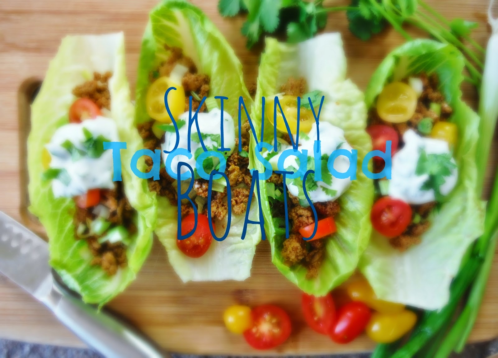 Skinny Taco Salad Lettuce Boats