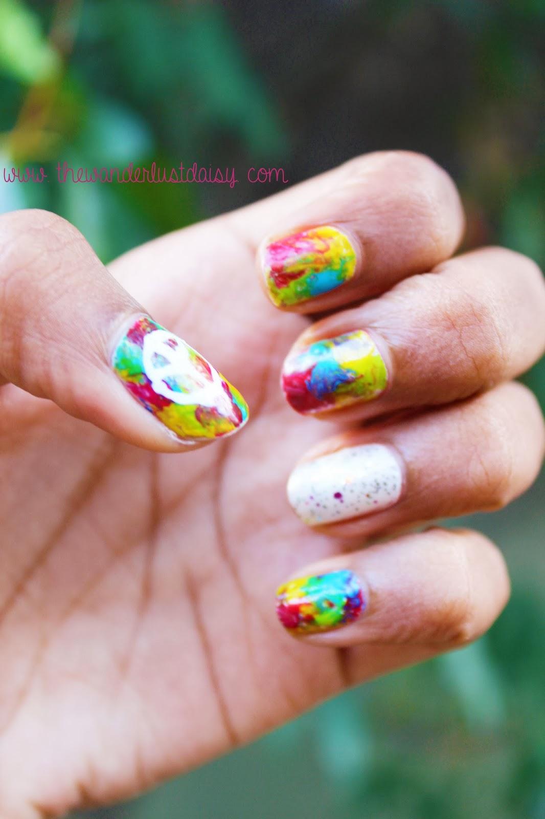 Hippie • Nail Art | The Wanderlust Daisy